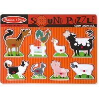 Melissa & Doug - Farm Animals Sound Puzzle - 8pc