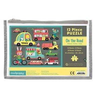 Mudpuppy - On the Road Pouch Puzzle 12pc
