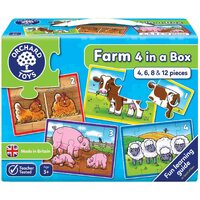 Orchard Toys - Farm 4 In a Box Puzzles