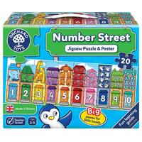 Orchard Toys - Number Street Puzzle 20pc