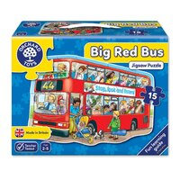 Orchard Toys - Big Red Bus Shaped Floor Puzzle 15pc