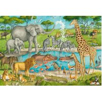 Ravensburger - Watering Hole Delight SuperSize Puzzle 24pc