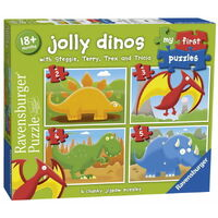 Ravensburger - My First Puzzles - Jolly Dinos (4 puzzles)