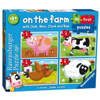 Ravensburger - My First Puzzles - On the Farm My First Puzzle (4 puzzles)