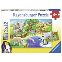 Ravensburger - Animals In The Zoo Puzzle 2x12pc