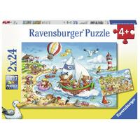 Ravensburger - Seaside Holiday Puzzle 2x24pc