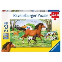 Ravensburger - World of Horses Puzzle 2x24pc