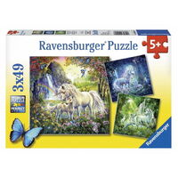 Ravensburger - Beautiful Unicorns Puzzle 3x49pc