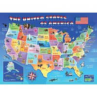 Ravensburger - USA State Map Puzzle 100pc