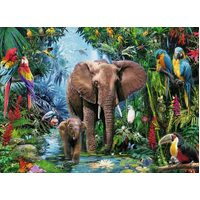 Ravensburger - Elephants at the Oasis Puzzle 150pc