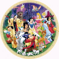 Ravensburger - Disney Wonderful World Round Puzzle 1000pc