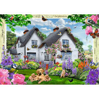 Ravensburger - Delphinium Cottage Puzzle 1000pc