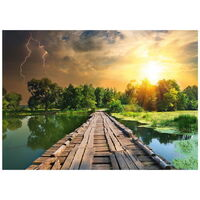 Ravensburger - The Wooden Footbridge Puzzle 1000pc