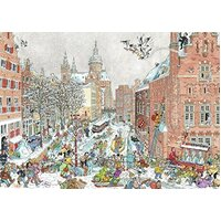 Ravensburger - Fleroux, Amsterdam in Winter Puzzle 1000pc