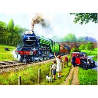 Sunsout - Watching the Trains Puzzle 1000pc