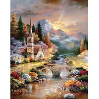 Sunsout - A Country Evening Service Large Piece Puzzle 1000pc