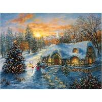 Sunsout - Christmas Cottage Puzzle 500pce