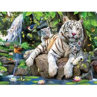 Sunsout - White Tigers of Bengal Large Piece Puzzle 300pc