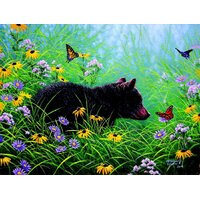Sunsout - Black Bear and Butterflies Puzzle 500pc