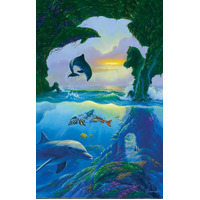 Sunsout - 7 Dolphins Puzzle 1000pc