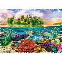 Trefl - Crazy Shapes - Tropical Island Puzzle 600pc
