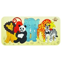 Andzee - Zoo Animals Raised Puzzle 12pc