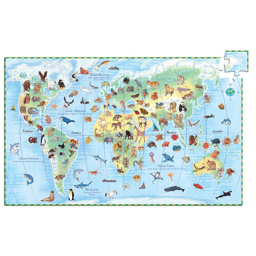 Djeco - Animals of the World Discovery Puzzle 100pcs