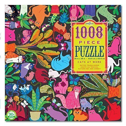 eeBoo - Cats at Work Puzzle 1008pc