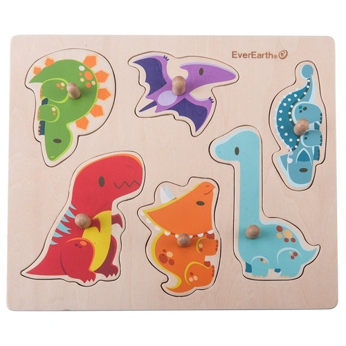 Everearth - Dinosaur Peg Puzzle 6pc