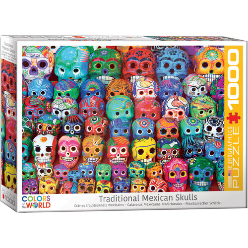 Eurographics -Traditional Mexican Skulls Puzzle 1000pc