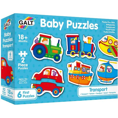 Galt - Baby Puzzles - Transport 2pc