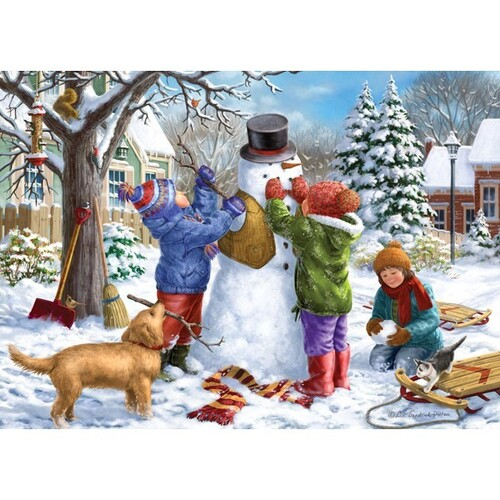 Holdson - Young at Heart Snowman Large Piece Puzzle 500pc