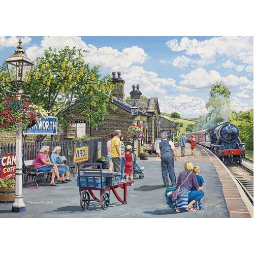 Holdson - At the Station, Oakworth Large Piece Puzzle 500pc
