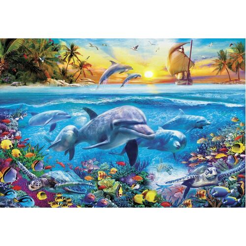 Holdson - Gallery, Dolphin Ship Large Piece Puzzle 300pc