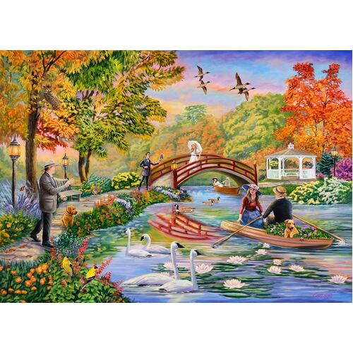Holdson - Moments & Memories, Autumn on the Pond Puzzle 1000pc