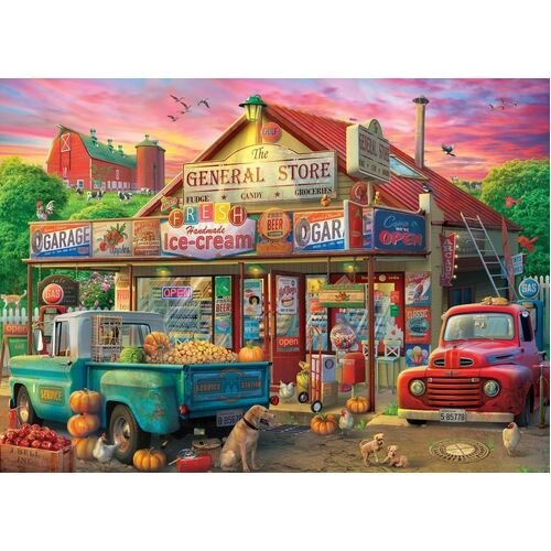 Holdson - Pickups & Produce - General Store Large Piece Puzzle 500pc
