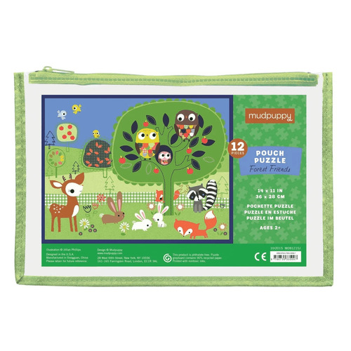 Mudpuppy - Forest Friends Pouch Puzzle 12pc