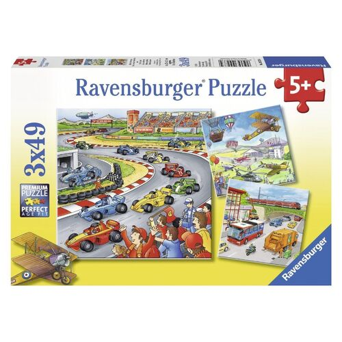 Ravensburger - Moving Vehicles Puzzle - 3 x 49pc