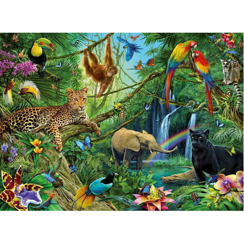 Ravensburger - Animals in the Jungle Puzzle - 200pc