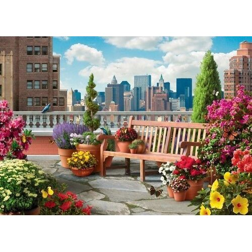 Ravensburger - Rooftop Garden Large Format Puzzle 500pc